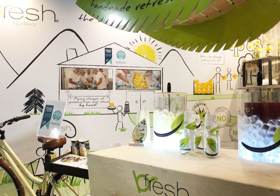 Handmade refreshment bfresh spitiko at the global trade show HOST Milano