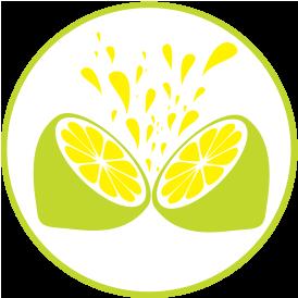 Wir verwenden Grapefruit und Zitronensaft (kein Konzentrat)